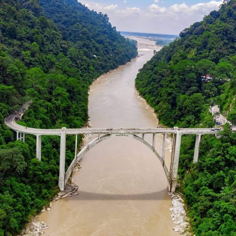 The Bridge Across the Teesta